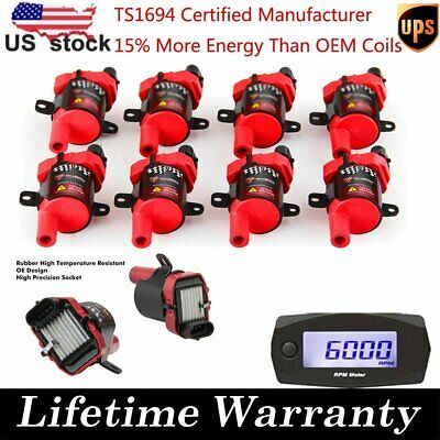 8X CarBole High Performance Ignition Coil For Chevy 4.8L 5.3L 6L V8 D585 UF-262