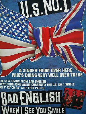 Bad English - Magazine Cutting (Full Page Advert) (Ref H8)
