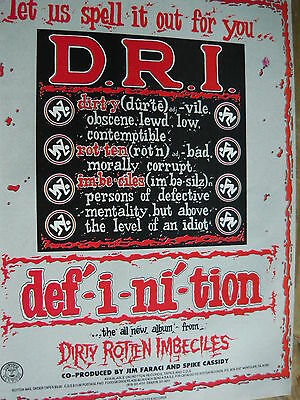 D.r.i. - Magazine Cutting (Full Page Advert) (Ref Xi)