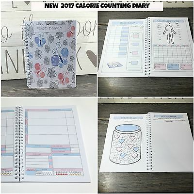 A5 Food Diary CALORIE COUNTING Diet Tracker Journal Weight loss Notebook Log