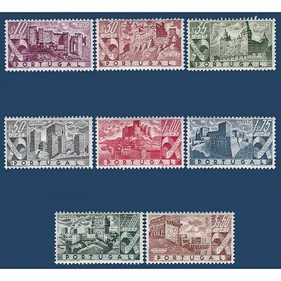Portugal N°675-682 Serie Timbres Chateaux Divers 1946