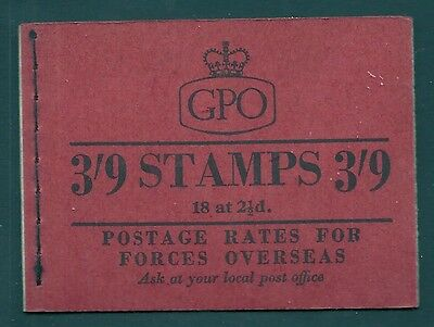 G20 3/9 Wilding GPO booklet - June 1957 UNMOUNTED MINT/MNH