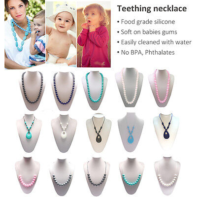 New Food-Grade Silicone BPA-Free Teether Toys Teething Necklace Teether Jewelry