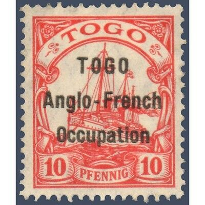 Togo N°34 Timbre Poste Du Togo Allemand Avec Surcharge 1914, Neuf*