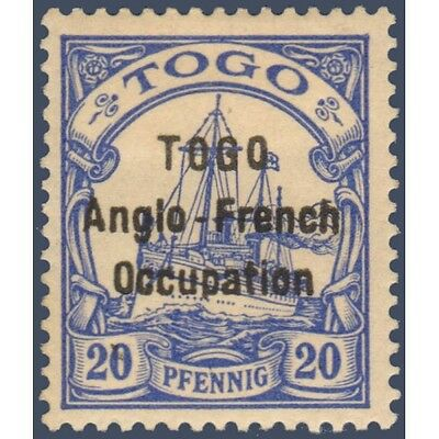 Togo N°35B Timbre Poste Du Togo Allemand Avec Surcharge 1914, Neuf*