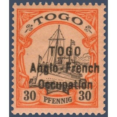 Togo N°37B Timbre Poste Du Togo Allemand Avec Surcharge 1914, Neuf*