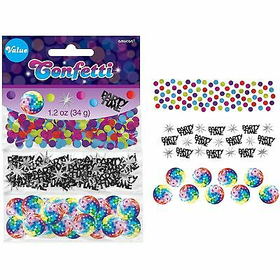 Disco Fever Confetti 70's Table Decoration Party 34g Pack of 3 Party Time