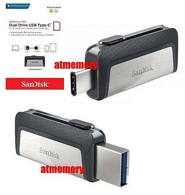 Sandisk Ultra Dual Type C 16GB 32GB 64GB 128GB 256GB USB3.1 lot Flash USB Drive