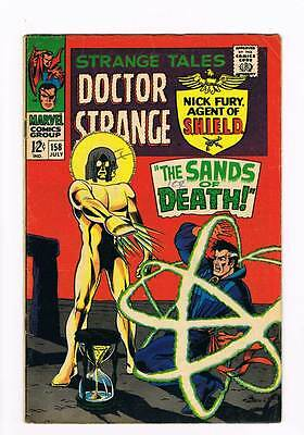 Strange Tales # 158  Nick Fury  Doctor Strange grade 5.5 scarce hot book !!