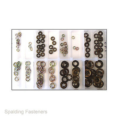 Assorted Flat Clip Starlock Flower Grab Washers