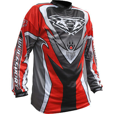 Wulfsport Adults Attack Jersey Off Road Motocross Mx Enduro Atv Top New 2017 Red