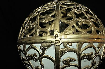 Vtg Vintage Japanese Oriental Asian Chandelier Fixture Ceiling Light  Pendant