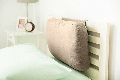 Latte Wool Feel Headboard Cushion Bed Rest Head Board Neck Support Cushion