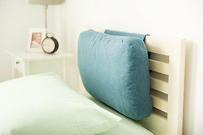 Marine Blue Wool Feel Headboard Cushion Bed Rest Head Board Neck Support Cushion