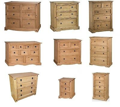 Corona Chest Of Drawers Pine Wide Narrow Merchant 3,4,5,6 by Mercers Furniture