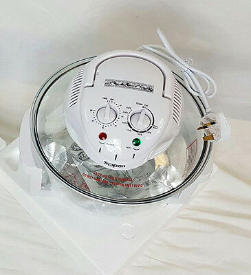 New White 12-L Halogen Convection Oven 1300-W Kitchen Appliances Ovens
