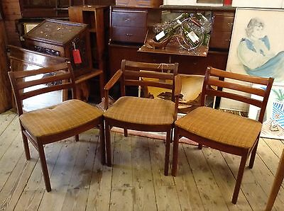 JS S Danish Scandinavian Retro Dining Chairs and Carver Rosewood ? 1960s rare