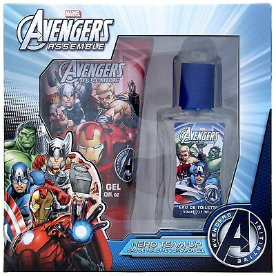 Hero Avengers Marvel Team Up Gift Set For Kid ,Eau De Toilette Spray 50ml + 150m