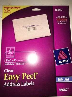 avery matte frosted clear return address labels for inkjet printers