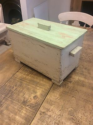 Antique Vintage Hungarian Old Pine Box Possibly Bread Or Storage