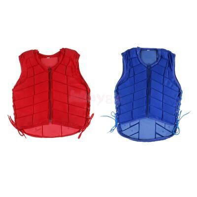 EVA Padded Waistcoat Equestrian Safety Vest Horse Riding Body Protector