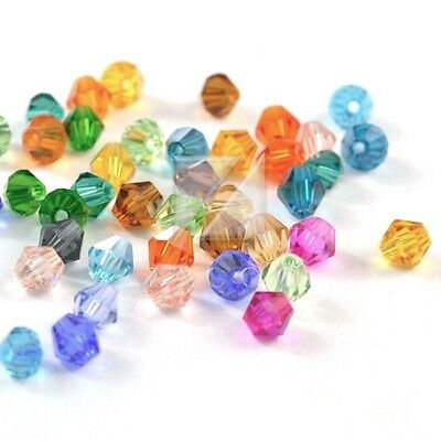3mm  Crystal Beads Bicone Loose Spacer Necklace Jewelry Assorted DIY