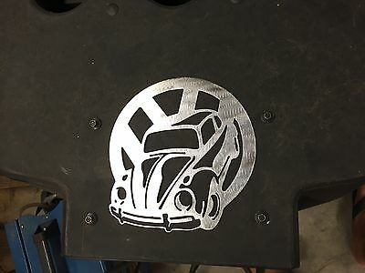 Plasma cut VW Bug logo Metal Man Cave/Garage Wall Art