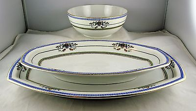 3 Pcs. Heinrich & Co. Selb Bavaria China - 2 Small Trays, 1 Rice/Cereal Bowl