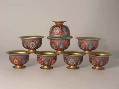 Chenrezig Pacifying Offering Bowl Set COMBINED SHIPPING AVAILABLE