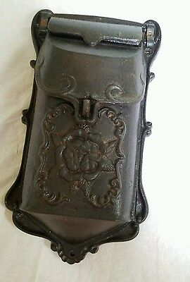 Vintage Home Mail Box Cast Iron