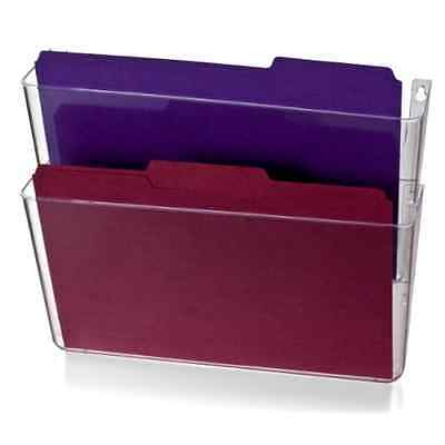2 Pack File Filing Letter Size Office Mail Storage Organizer Wall Mount Pocket .