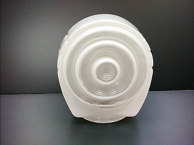 VTG Frosted White Glass Globe Lavatory Bathroom Vanity Light Fixture Shade round