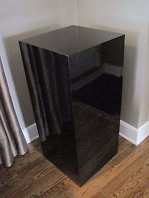 Sleek Estate Black Laminate Pedestal # 2, Extra Large