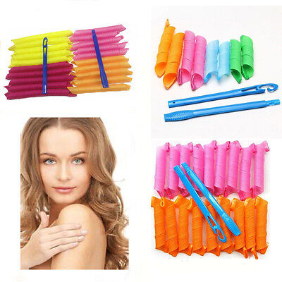 18/36/40/54PCS 20-50CM DIY Hair Rollers Curlers Circle Twist Spiral Ringlet Comb