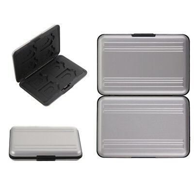 Micro SD SDHC SDXC Storage Holder Data Memory Card Case Pouch Protector Aluminum
