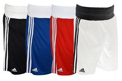 Adidas Boxing Shorts Climalite White Blue Red Black Pro Mens Sparring