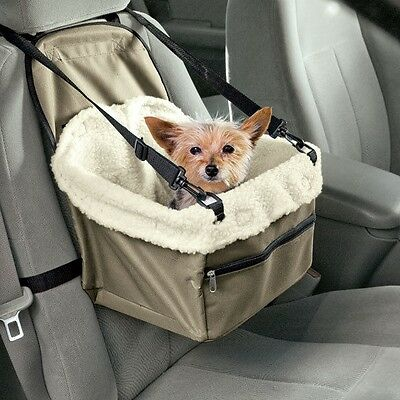 Puppy Car Carrier Small Dog Cat Pet Travel Basket Vehicle Safety Seat Booster