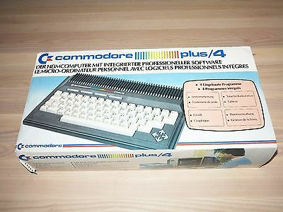 COMMODORE PLUS / 4 HOMECOMPUTER PC COMPUTER IN OVP UNBENUTZT in MINT