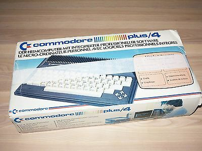 COMMODORE PLUS / 4 HOMECOMPUTER PC COMPUTER IN OVP in FAST NEU in MINT