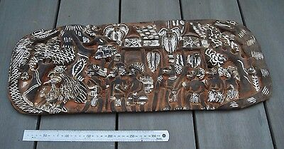 Old Papua New Guinea carved story board