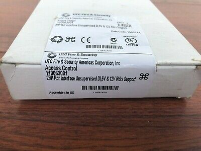 New in Sealed Box UTC   Access Control 110063001 2 RP Reader Interface Unsupervi