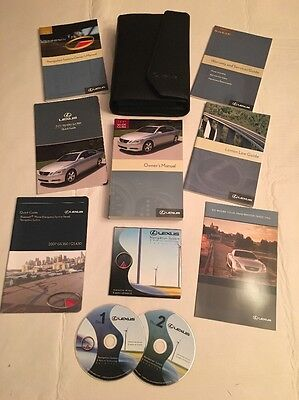 2007 Lexus GS 430 / GS 350 Owners Manual Set with Navigation CD