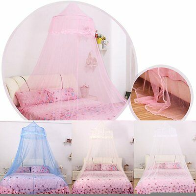 Satin Crown Mosquito Net Bed Single Double King Midge Insect Fly Canopy