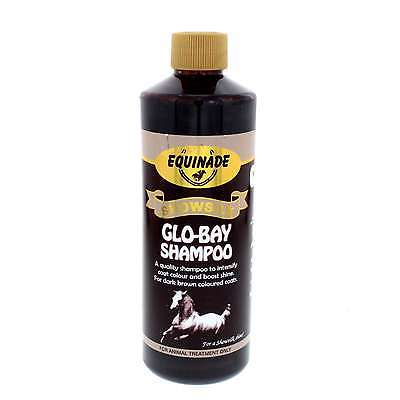 Showsilk Glo-Bay Shampoo Intensify Coat Colour Shine Equinade Horse Equine 500ml