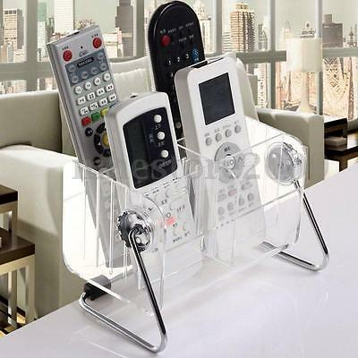 Acrylic Clear TV/VCR/DVD Remote Control Phone Organizer Storage Box Stand Holder