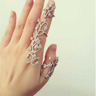 Modern Fashion Punk Rock Gothic Double Full Finger Knuckle Armor Ring Hot Sale