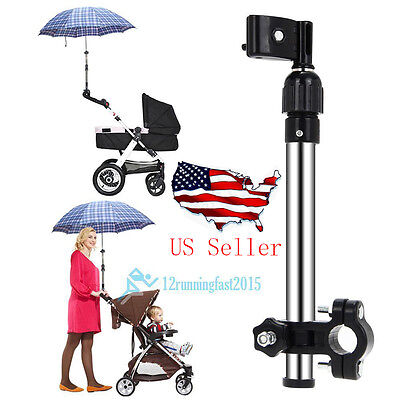 Universal Stroller Pram Baby Buggy Jogger Umbrella Holder Connector RainProof US