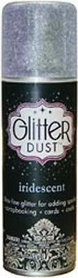GLITTER DUST Iridescent Clear Therm O Web Spray Project Decor Shine & Sparkle