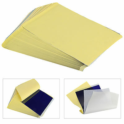 100 Sheets Tattoo Thermal Carbon/Copy Stencil Transfer Paper Tracing Kit A4