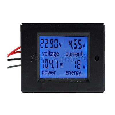 20A DC Digital Power Meter Monitor Power Energy Voltmeter Ammeter 12V 24V CAR AS